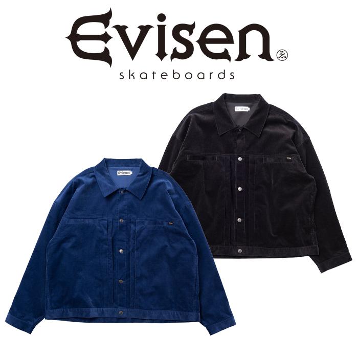 【EVISEN】 Evisen Skateboards (エヴィセン スケートボード)  2ND HAND SMOKE II   【コーデュロイ ジャケット】【エビセン スケ