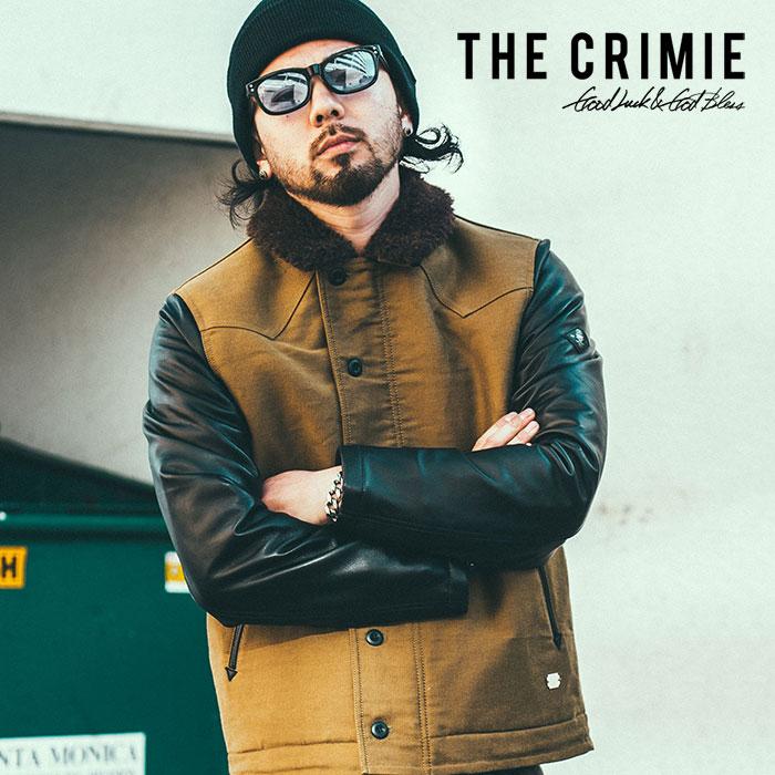 【SALE50%OFF】 CRIMIE(クライミー) メンズ N1 ジャケット レザー ミリタリー【C1H5-JK10】【XS S M L XL XXL】【ブラック カーキ