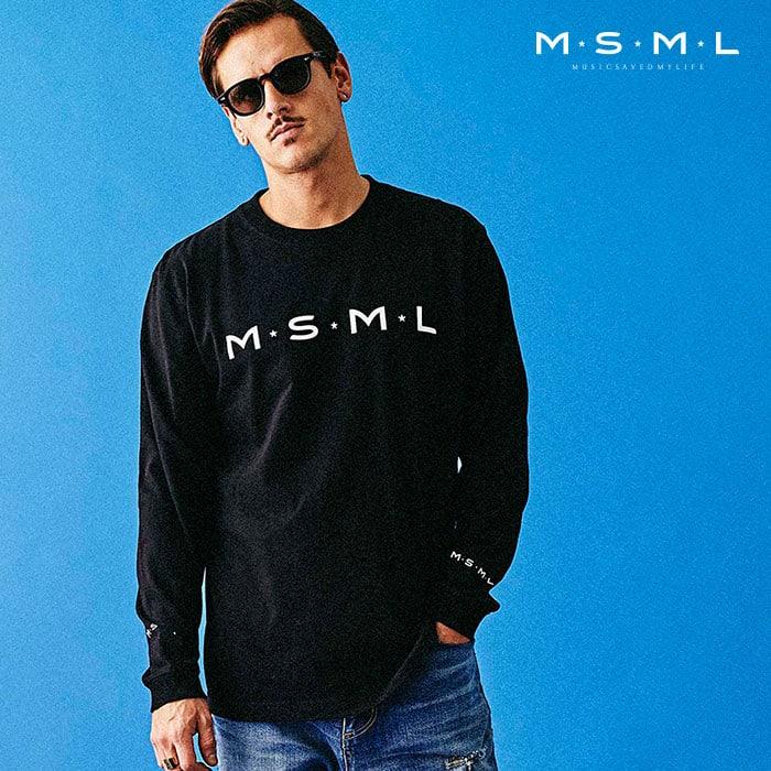【SALE30%OFF】 MSML(MUSIC SAVED MY LIFE)(エムエスエムエル) MSML LONG SLEEVE TEE 【セール】【ロングスリーブTシャツ ロンT】