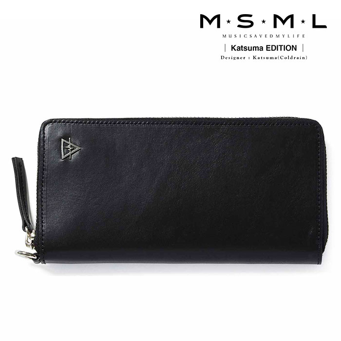 MSML(MUSIC SAVED MY LIFE) LONG LEATHER WALLET 【2019AUTUMN&WINTER先行予約】 【キャンセル不可】【M2A1-01K5-WB01】 【MSML(