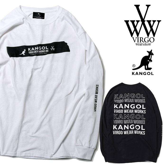 VIRGO ヴァルゴ バルゴ KANGOL×VIRGOwearworks BIG TAPE L/S 【2019 SUMMER&EARLY FALL新作】 【VG-CB-83】【ロングスリーブTシャ