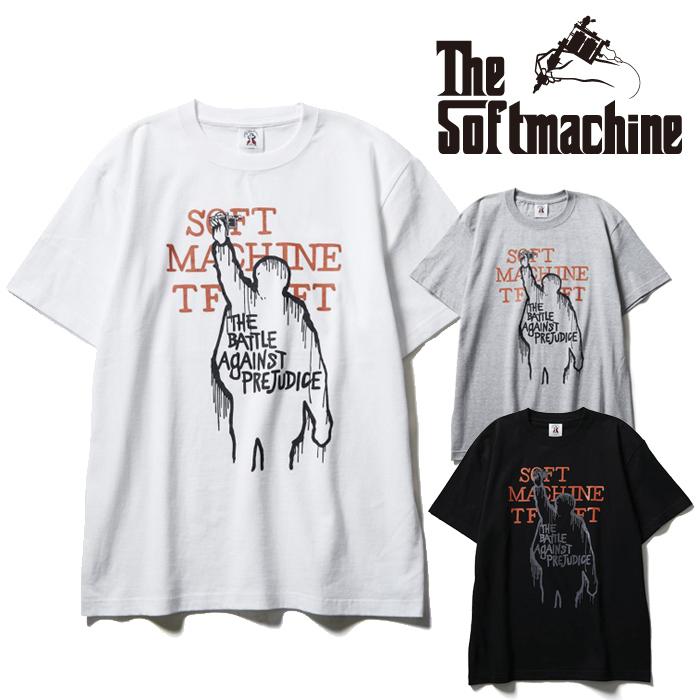 SOFTMACHINE(ソフトマシーン) AGAINST-T(T-SHIRTS) 【Tシャツ 半袖】【ブラック ホワイト グレー タトゥー】【2021 SUMMERVACATION