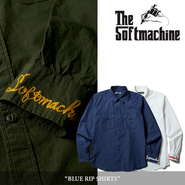 【SALE】 SOFTMACHINE(ソフトマシーン) BLUE RIP SHIRTS(L/S SHIRTS) 【2018SPRING/SUMMER新作】
