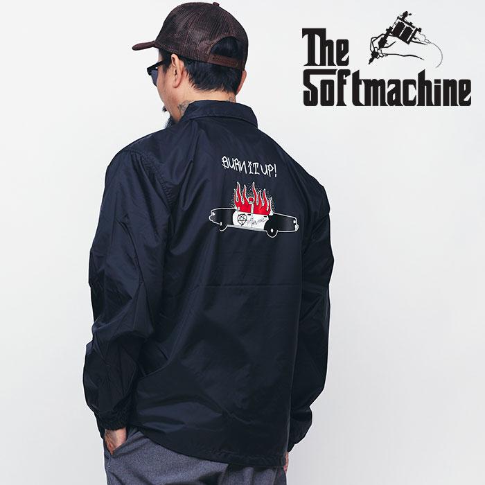SOFTMACHINE(ソフトマシーン) BURN UP JK 【コーチジャケット】【ブラック グレー タトゥー】【送料無料】【2020SPRING&SUMMER新作