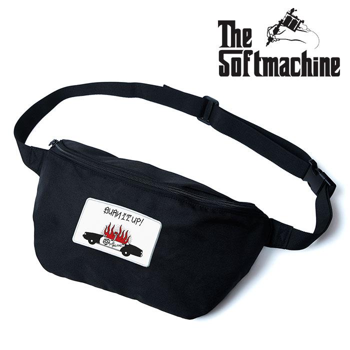 SOFTMACHINE(ソフトマシーン) BURN UP WEST BAG 【ウエストバッグ】【ブラック タトゥー】【2020SPRING&SUMMER新作】