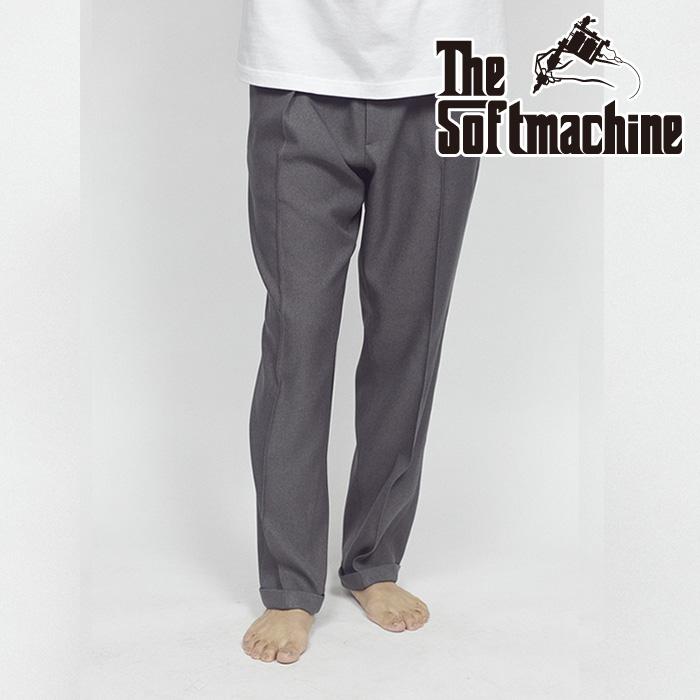 SOFTMACHINE(ソフトマシーン) CHAVEZ PANTS(SLACKS) 【スラックス】【ブラック グレー タトゥー】【2021 SUMMERVACATION先行予約】