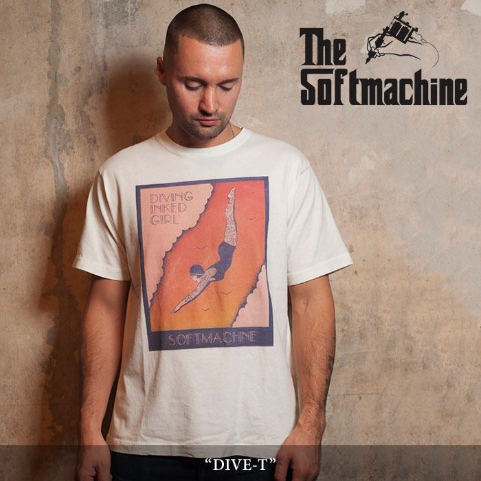 【SALE】 SOFTMACHINE(ソフトマシーン) DIVE-T (T-SHIRTS) 【2018SPRING/SUMMER新作】 【即発送可能】 【SOFTMACHINE Tシャツ】