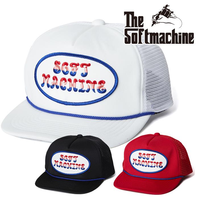 SOFTMACHINE(ソフトマシーン) FLOWER LOGO CAP(MESH CAP) 【メッシュキャップ】【ブラック ホワイト レッド タトゥー】【2021 SUMM
