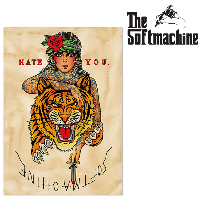 SOFTMACHINE(ソフトマシーン) HATE YOU POSTER 【ポスター タトゥー】【2021 SPRING&SUMMER新作】