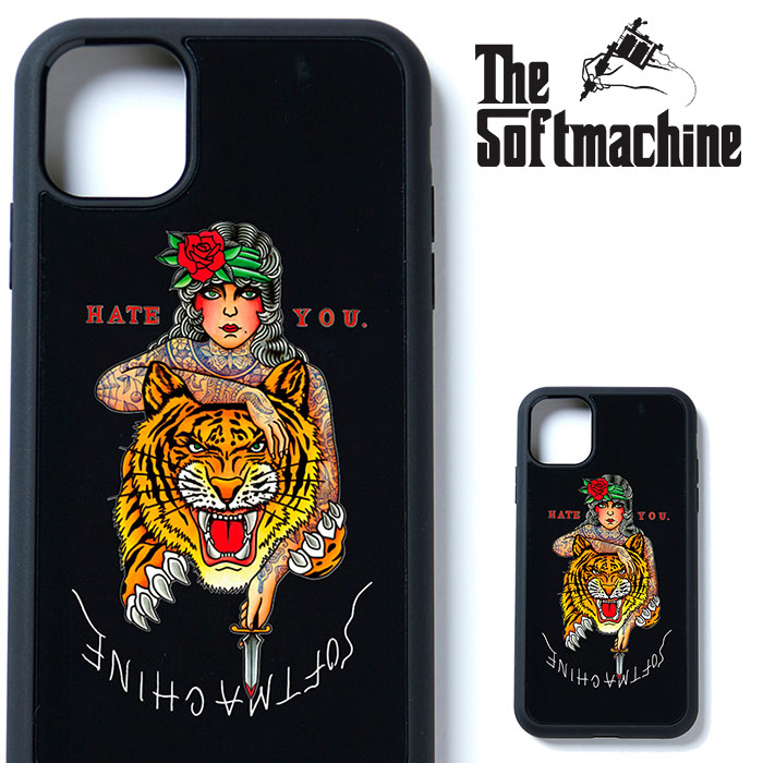 SOFTMACHINE(ソフトマシーン) HATE YOU iPhone CASE 【アイフォンケース】【ブラック タトゥー】【2021 SPRING&SUMMER先行予約】【