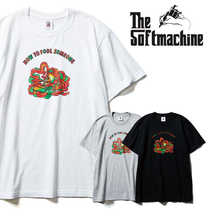 SOFTMACHINE(ソフトマシーン) FOOL-T 【Tシャツ 半袖】【ブラック ホワイト グレー タトゥー】【2021 SPRING&SUMMER先行予約】【キ