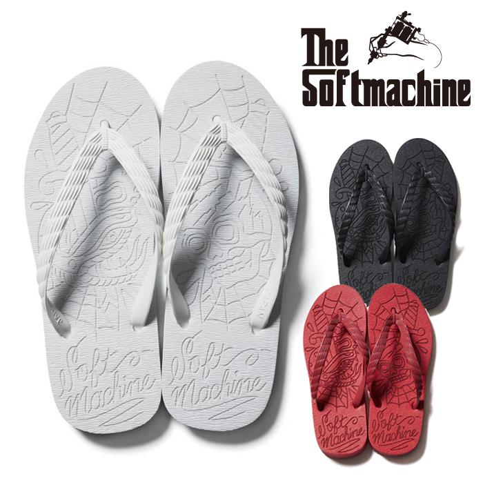 SOFTMACHINE(ソフトマシーン) LAST WEB SANDAL(SANDAL) 【サンダル ビーチサンダル ビーサン】【ブラック ホワイト レッド タトゥ