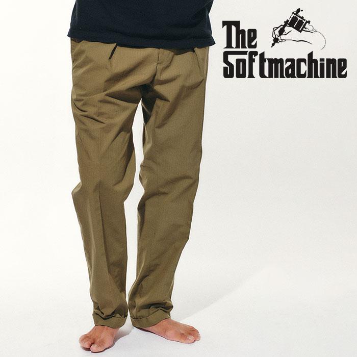 SOFTMACHINE (ソフトマシーン)  LAVEY PANTS(SLACKS) 【スラックス パンツ】【オリーブ ブラック タトゥー】【2021 SPRING&SUMMER