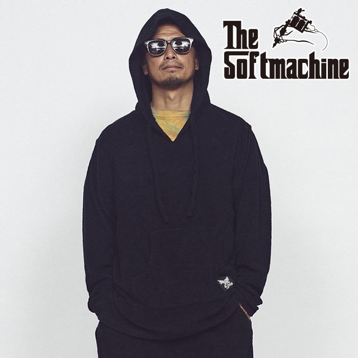 SOFTMACHINE(ソフトマシーン) MALIBU HOODED(PILE MEXICAN PARKA) 【パーカー フーディー】【ブラック タトゥー】【2021 SUMMERVAC