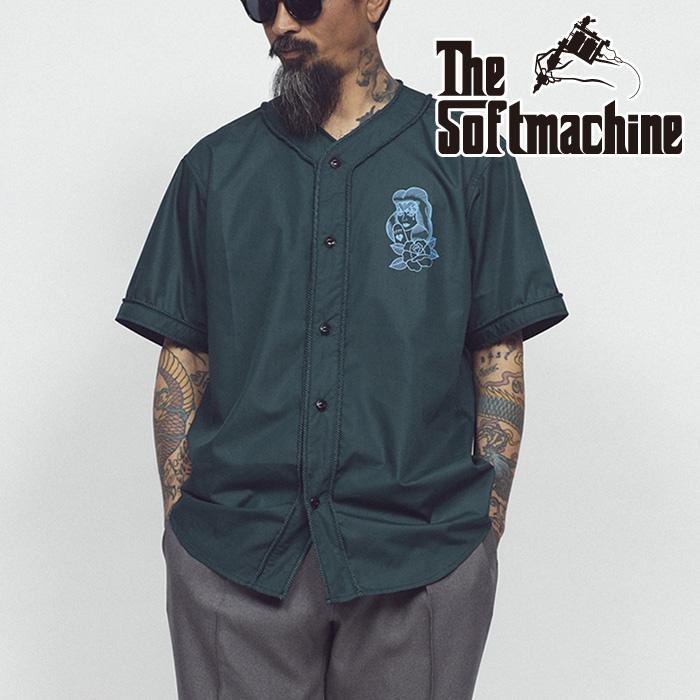 SOFTMACHINE(ソフトマシーン) PROMESA B.B(B.B SHIRTS) 【ベースボールシャツ】【ブラック グリーン タトゥー】【2021 SUMMERVACAT