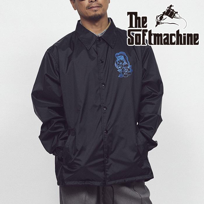 SOFTMACHINE(ソフトマシーン) PROMESA JK(COARCH JACKET) 【コーチジャケット】【ホワイト ブラック タトゥー】【2021 SUMMERVACAT