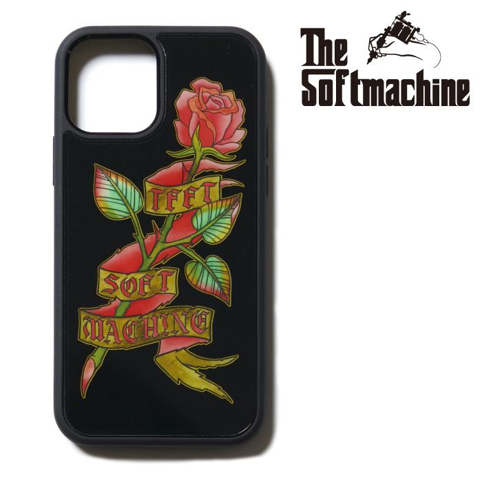 SOFTMACHINE(ソフトマシーン) ROSE iPhone CASE 【アイフォンケース】【ブラック タトゥー】【2021 SUMMERVACATION新作】