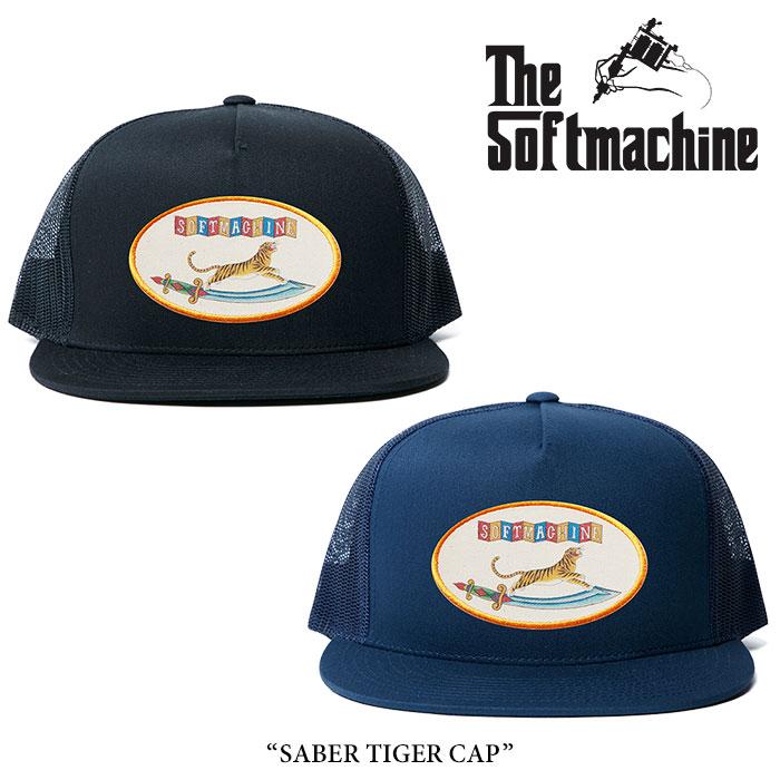 SOFTMACHINE(ソフトマシーン) SABER TIGER CAP(MESH CAP) 【2018SPRING/SUMMER先行予約】 【キャンセル不可】 【SOFTMACHINE メ