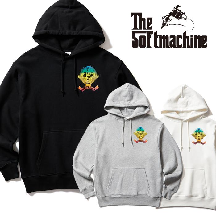 SOFTMACHINE (ソフトマシーン)  SAD FATE HOODED 【フーディー パーカー】【ブラック ホワイト グレー タトゥー】【2021 AUTUMN&W