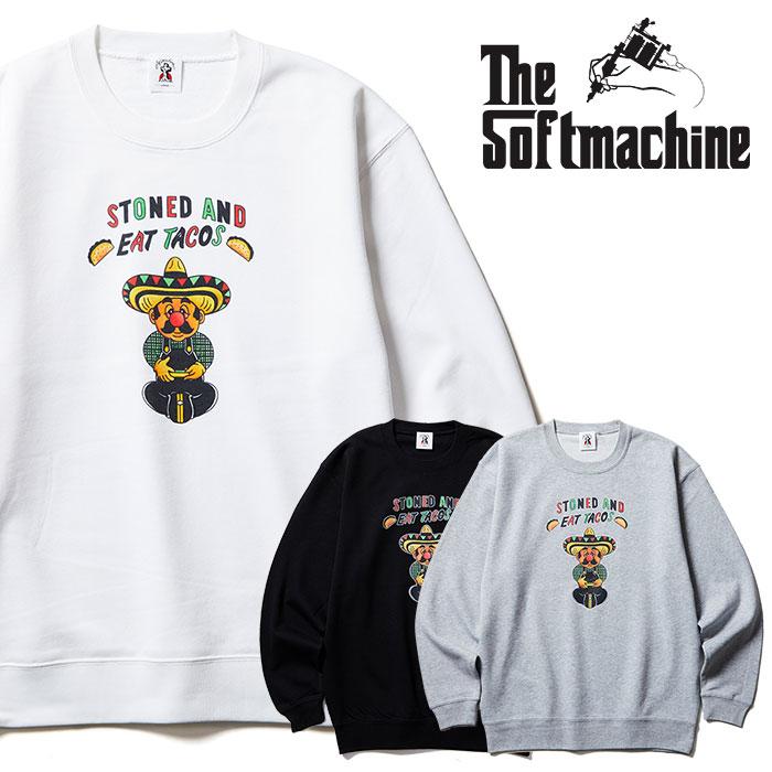 SOFTMACHINE(ソフトマシーン) STONED SWEAT 【クルーネックスウェット】【ブラック ホワイト グレー タトゥー】【2021 SPRING&SUMM