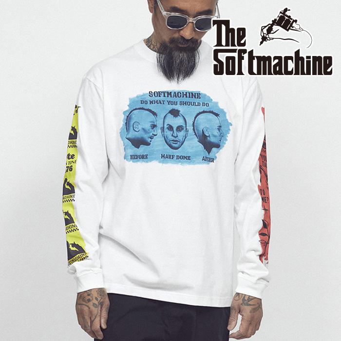 SOFTMACHINE(ソフトマシーン) STORY L/S(L/S T-SHIRTS) 【Tシャツ 長袖】【グレー ホワイト タトゥー】【2021 SUMMERVACATION先行