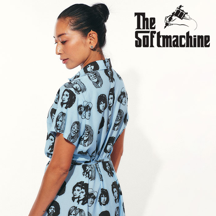 SOFTMACHINE(ソフトマシーン) TWENTY SEVEN DRESS 【ワンピース WOMEN'S】【ホワイト イエロー ブルー タトゥー】【2021 SPRING&SU