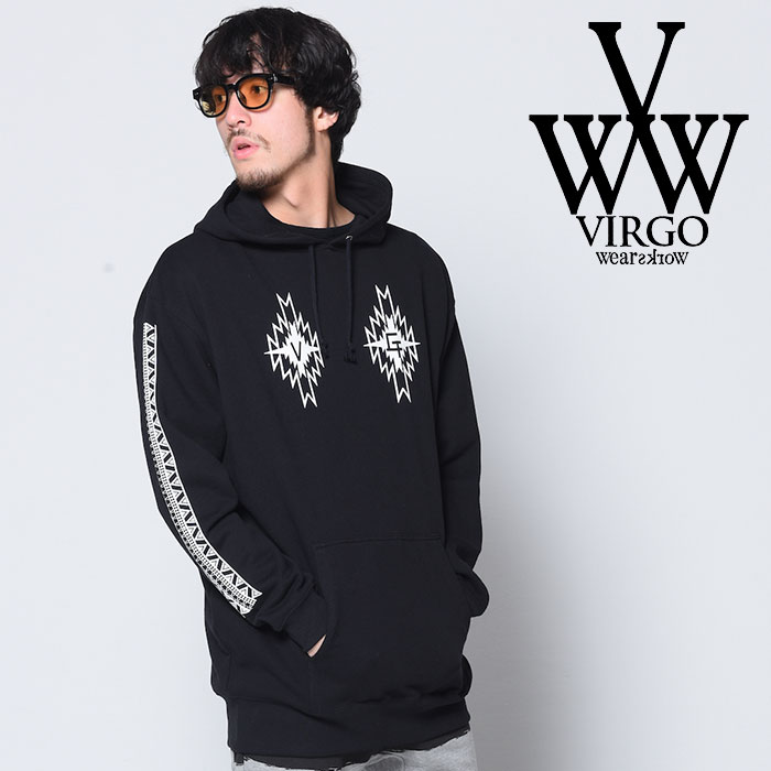 VIRGO ヴァルゴ バルゴ LOOSE BIG NATIVE PARKA 【2018-19HOLIDAY/SPRING新作】 【VG-SWT-117】【ジップ パーカー】