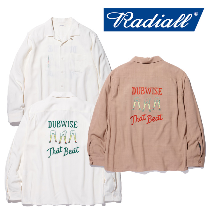 【SALE30%OFF】 RADIALL(ラディアル) SPACE ECHO-OPEN COLLARED SHIRT L/S 【2018 AUTUMN & WINTER COLLECTION】 【RAD-18AW-SH0