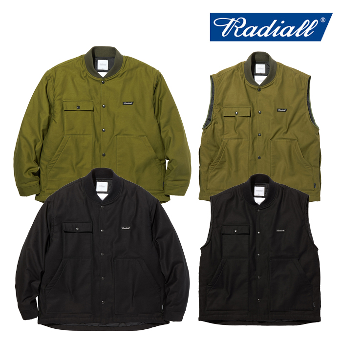 RADIALL(ラディアル) OAK TOWN - WORK JACKET 【ワークジャケット ベスト】【2020 AUTUMN&WINTER COLLECTION】【RAD-20AW-JK010】