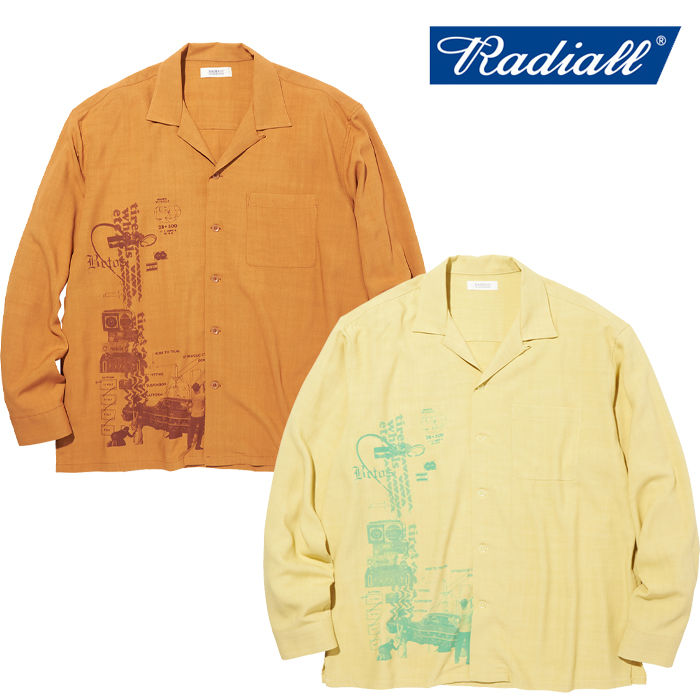 RADIALL(ラディアル) HYDRAULIC - OPEN COLLARED SHIRT L/S 【オープンカラーシャツ】【2020 AUTUMN&WINTER COLLECTION】【RAD-20A