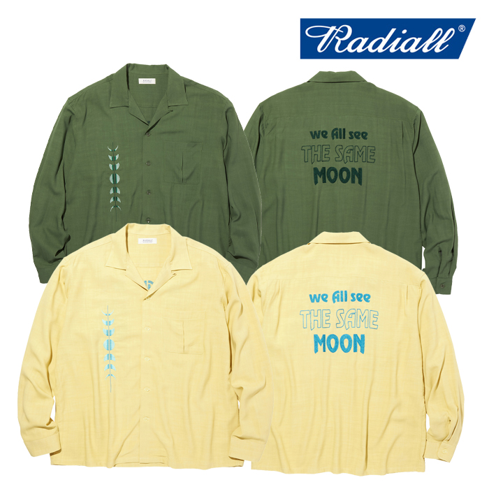 RADIALL(ラディアル) HARVEST - OPEN COLLARED SHIRT L/S 【オープンカラーシャツ】【2020 AUTUMN&WINTER COLLECTION】【RAD-20AW-