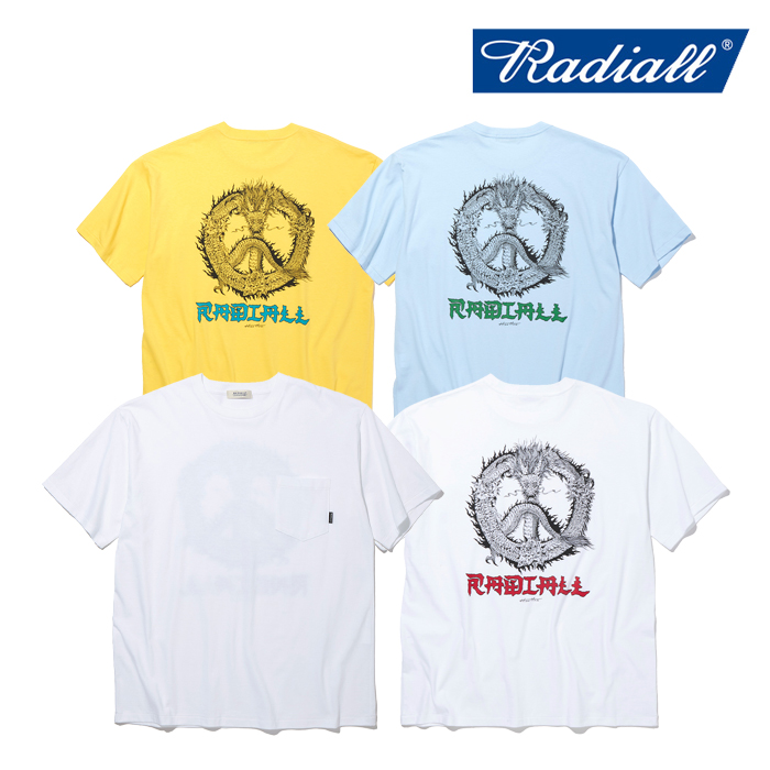 RADIALL(ラディアル) PEACE ROSE - CREW NECK POCKET T-SHIRT S/S 【Tシャツ 半袖】【2021 SPRING&SUMMER COLLECTION】【RAD-21SS-