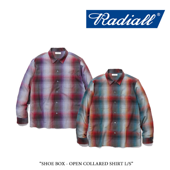 RADIALL(ラディアル) SHOE BOX - OPEN COLLARED SHIRT L/S 【2018 SPRING&SUMMER新作】 【送料無料】【即発送可能】 【RADIALL