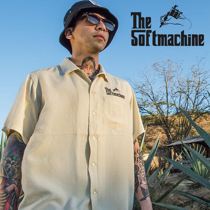 SOFTMACHINE(ソフトマシーン) GOD SHIRTS S/S 【シャツ 半袖】【ホワイト イエロー ピンク タトゥー】【2020SUMMER VACATION新作】
