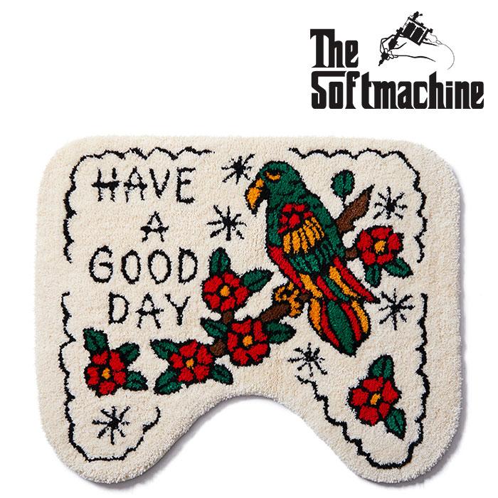 SOFTMACHINE(ソフトマシーン) GOOD DAY TOILET RUG 【トイレラグ】【ホワイト タトゥー TATOO おしゃれ】【2020SUMMER VACATION先