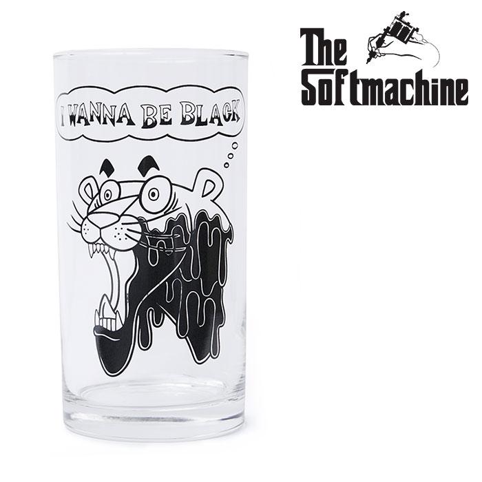 SOFTMACHINE(ソフトマシーン) PAINT IT BLACK GLASS 【グラス コップ タトゥー TATTOO おしゃれ】【2020SUMMER VACATION新作】