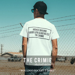 CRIMIE(クライミー) BOX LOGO POCKET T-SHIRT 【2018SPRING/SUMMER新作】 【即発送可能】 【C1H1-TE06】 【CRIMIE Tシャツ】
