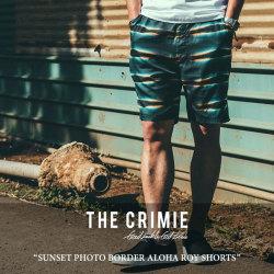 CRIMIE(クライミー) SUNSET PHOTO BORDER ALOHA ROY SHORTS 【2018 SUMMER新作】 【送料無料】【即発送可能】 【C1H3-PT12】