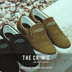 CRIMIE(クライミー) MILITARY SLIPON SNEAKER 【2018 SUMMER新作】 【送料無料】【即発送可能】 【C1H3-SB03】