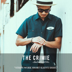 CRIMIE(クライミー) STRIPE WORK SHORT SLEEVE SHIRT 【2018 SUMMER新作】 【送料無料】【即発送可能】 【C1H3-SH04】