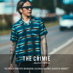 CRIMIE(クライミー) SUNSET PHOTO BORDER ALOHA SHORT SLEEVE SHIRT 【2018 SUMMER新作】 【送料無料】【即発送可能】 【C1H3-SH