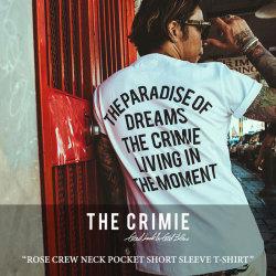 CRIMIE(クライミー) ROSE CREW NECK POCKET SHORT SLEEVE T-SHIRT 【2018 SUMMER新作】 【即発送可能】 【C1H3-TE08】