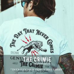 CRIMIE(クライミー) TIGER CREW NECK SHORT SLEEVE T-SHIRT 【2018 SUMMER新作】 【即発送可能】 【C1H3-TE09】