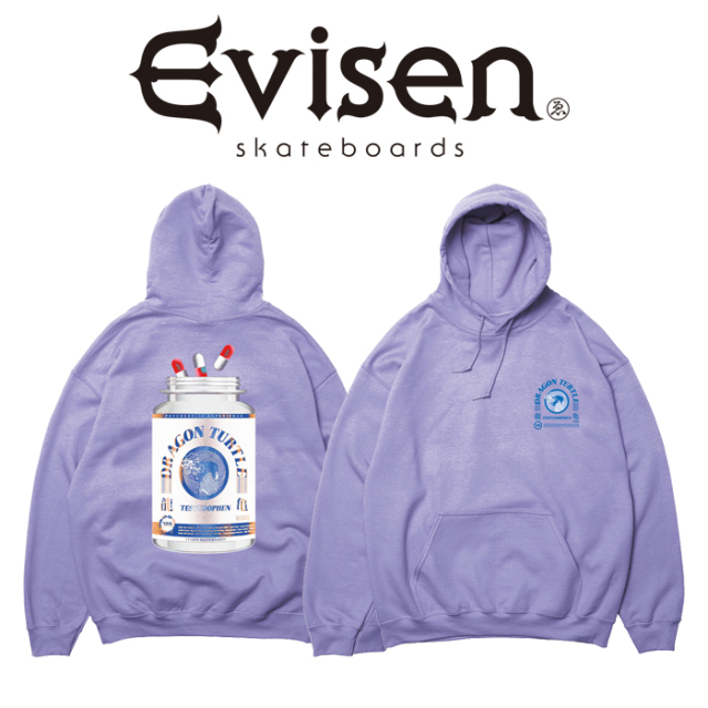 Evisen Skateboards (エヴィセン スケートボード) DRAGON TURTLE HOODY 【プルオーバーパーカー】【2021SPRING&SUMMER COLLECTION
