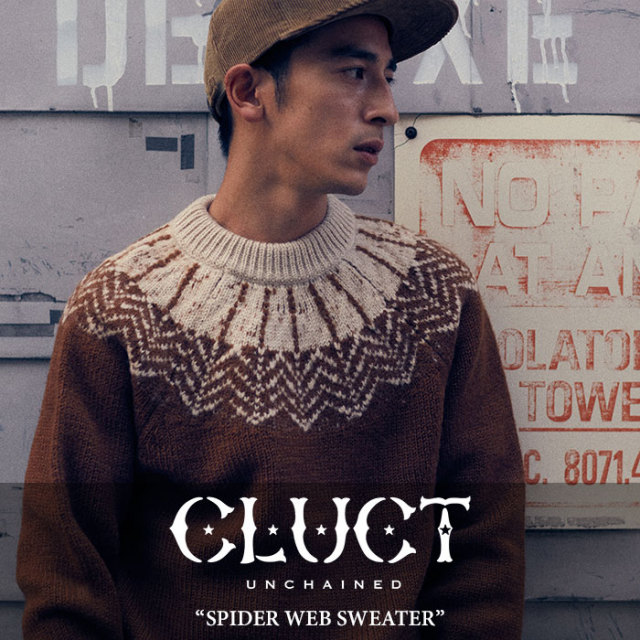 CLUCT(クラクト) SPIDER WEB SWEATER 【2017HOLIDAY先行予約】 【送料無料】【キャンセル不可】 【CLUCT セーター】 【#02523