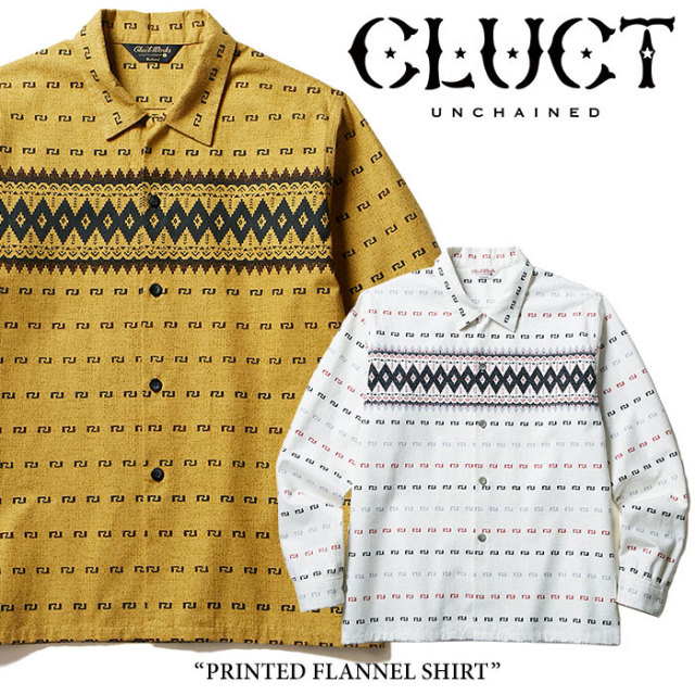 CLUCT(クラクト) PRINTED FLANNEL SHIRT 【2017HOLIDAY先行予約】 【送料無料】【キャンセル不可】 【CLUCT シャツ】【#02556】