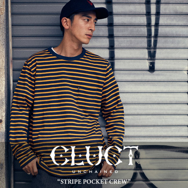 CLUCT(クラクト) STRIPE POCKET CREW 【2017HOLIDAY先行予約】 【送料無料】【キャンセル不可】 【CLUCT カットソー】【#02600