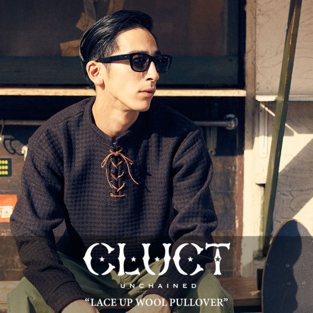 CLUCT(クラクト) LACE UP WOOL PULLOVER 【2017HOLIDAY先行予約】 【送料無料】【キャンセル不可】 【CLUCT アウター】【#02637