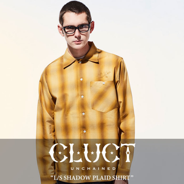 【SALE】 CLUCT(クラクト) L/S SHADOW PLAID SHIRT 【2018SPRING新作】 【送料無料】【即発送可能】 【CLUCT シャツ】 【#0266