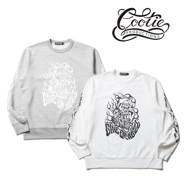 COOTIE(クーティー) Print Crewneck L/S Sweatshirt